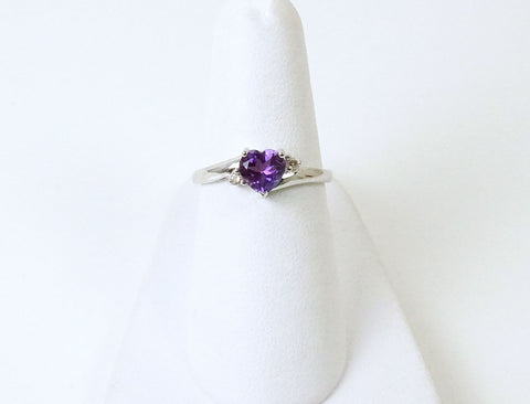 Heart shaped amethyst