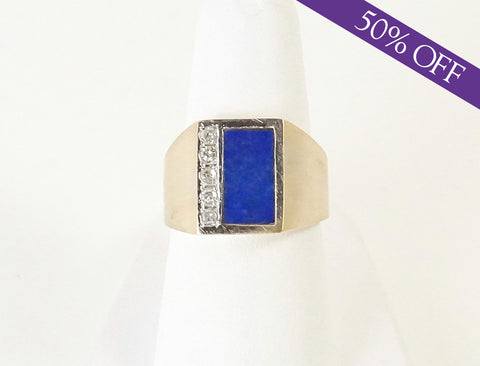 Lapis lazuli and diamonds - ORIGINAL PRICE: $450