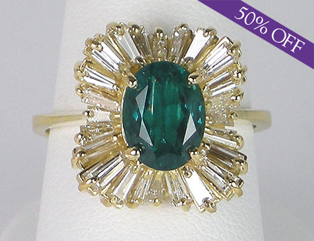 Chatham emerald ballerina ring - ORIGINAL PRICE - $5,950