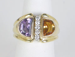 Amethyst and citrine duo