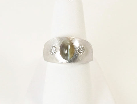 Chrysoberyl cat's eye ring