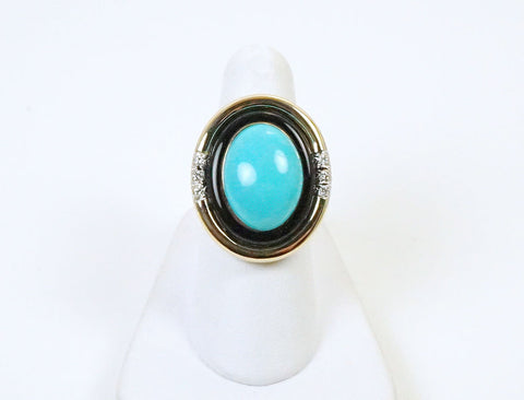 Turquoise, onyx and diamonds