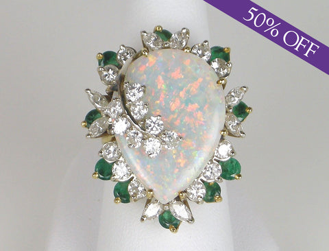 Dramatic opal ring - ORIGINAL PRICE $5250