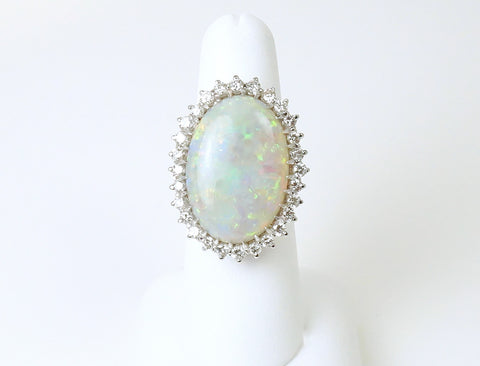 Australian opal and diamonds