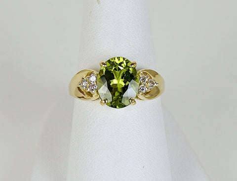 Peridot and diamonds