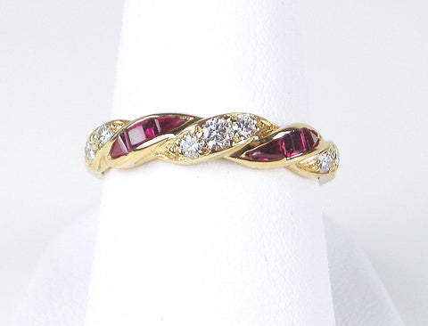 Ruby and diamond band by Oscar Heyman