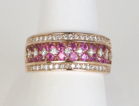 Band of diamonds and rubies