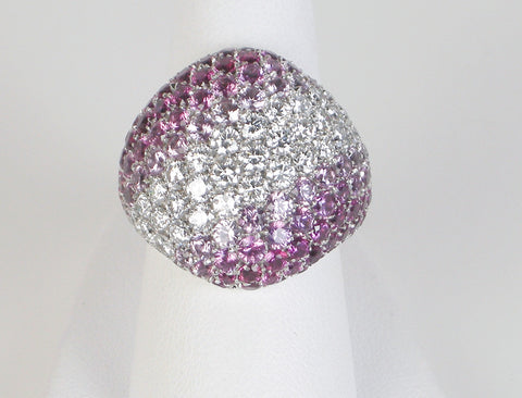 Pave diamond and sapphire ring by Picchiotti