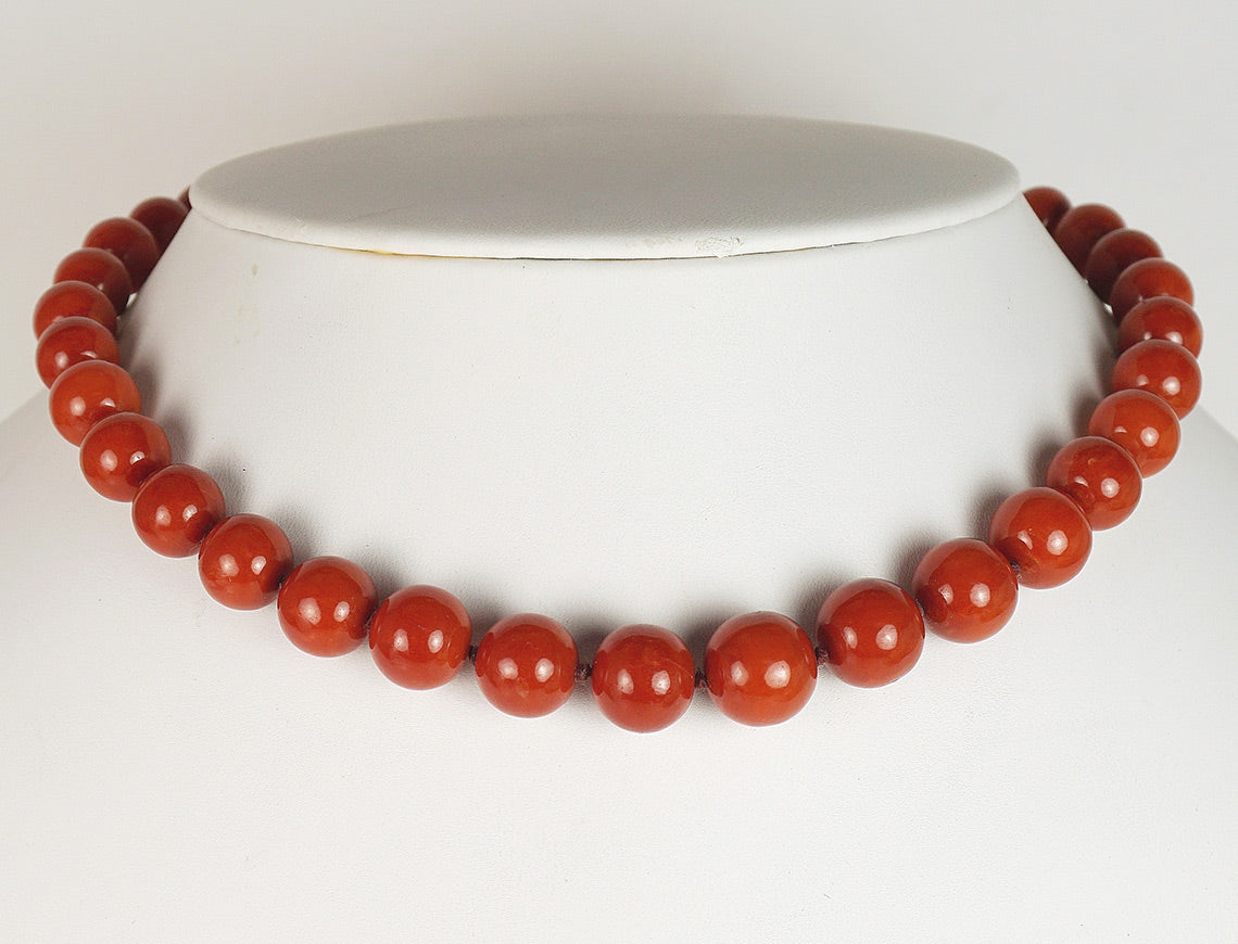 Vintage red coral necklace