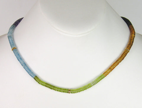 Multicolor gem necklace