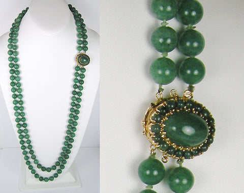 Double strand of aventurine