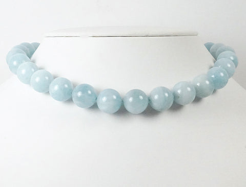 Big aquamarine beads