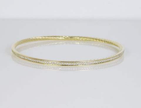 Diamond bangle by David Yurman