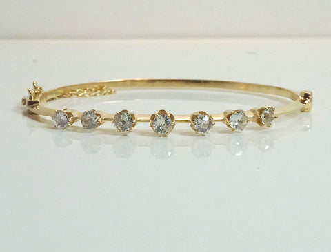 Vintage style diamond bangle bracelet