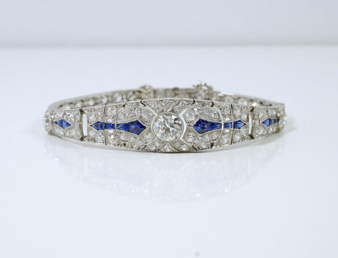 Art Deco diamonds and sapphires