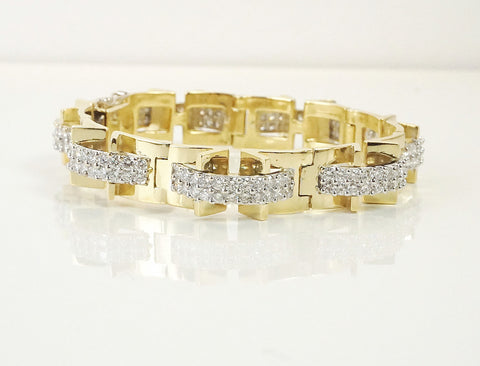 Architectural diamond bracelet
