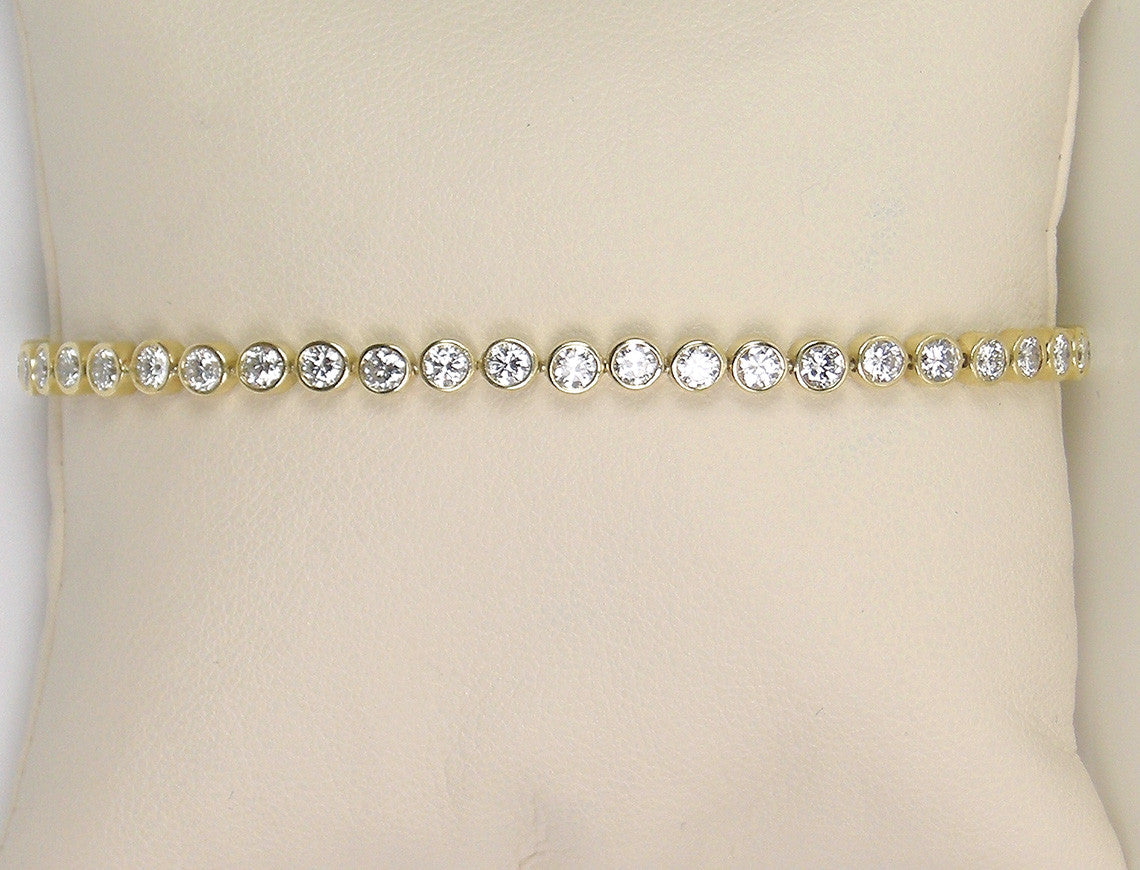 Bezel-set tennis bracelet.