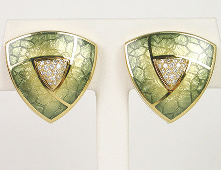 Enamel earrings by Stephen Webster