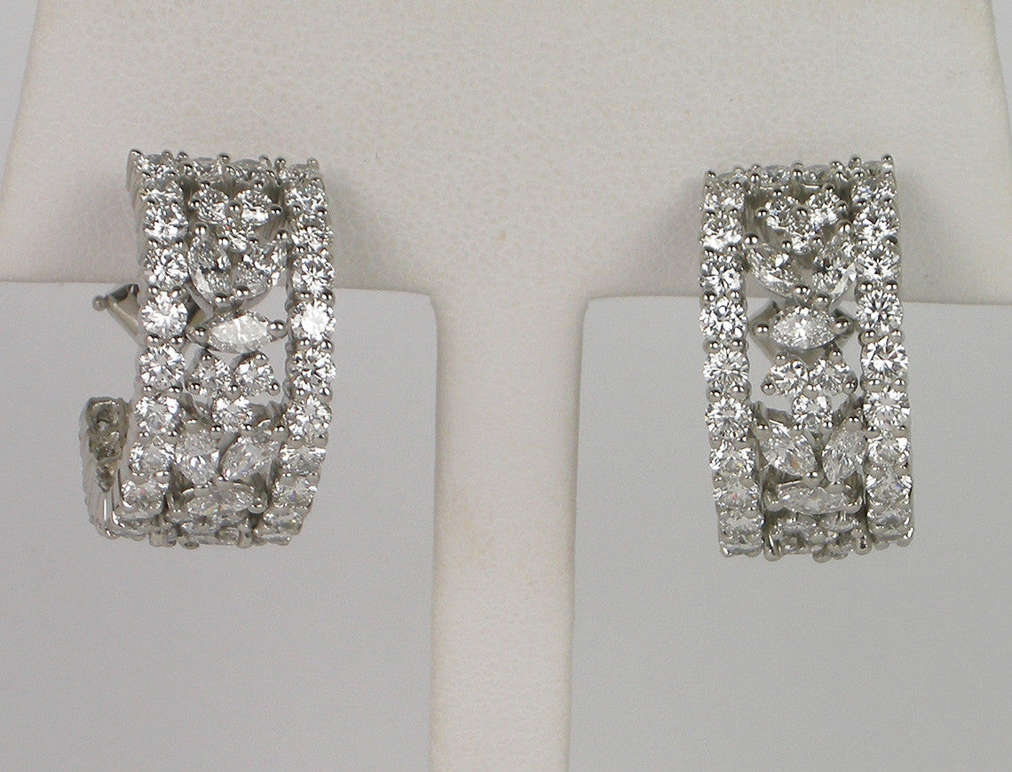 """Victoria"" earrings by Tiffany"