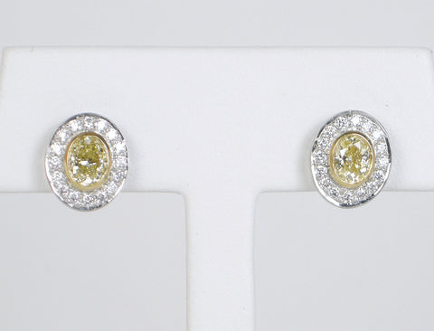 Yellow diamond earrings by Michael Beaudry