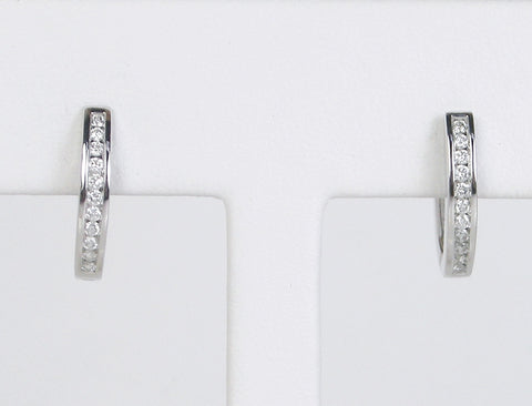 Diamonds in white gold