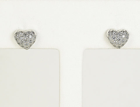 Pave diamond sweethearts