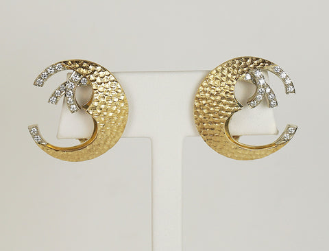 Crescent moon earclips