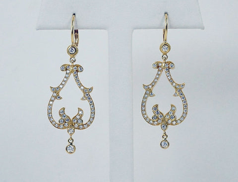 Diamond earrings by Penny Preville