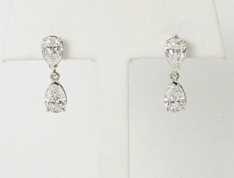 Elegant pear-shaped diamond drops