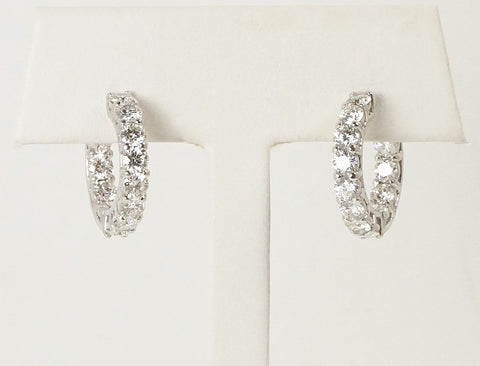 Ideally cut diamond hoops