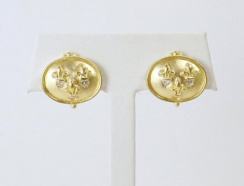 Fleur de lys earrings