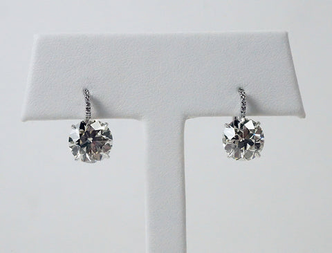 5.34 carat European cut earrings