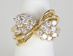 Fancy diamond bow ring