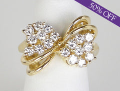 Fancy diamond bow ring - ORIGINAL PRICE $2800