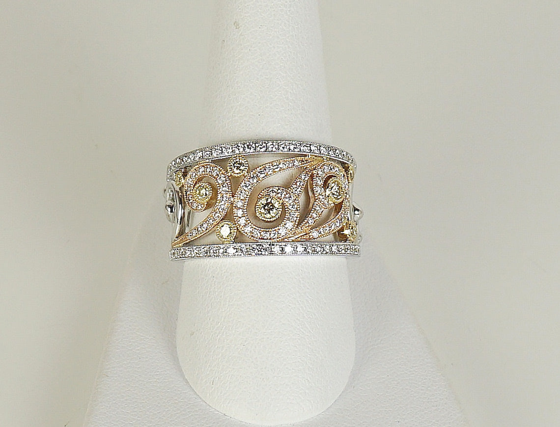 Fancy diamond band ring