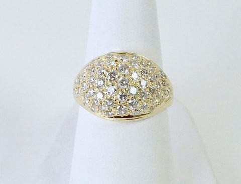 Pave diamond dome ring