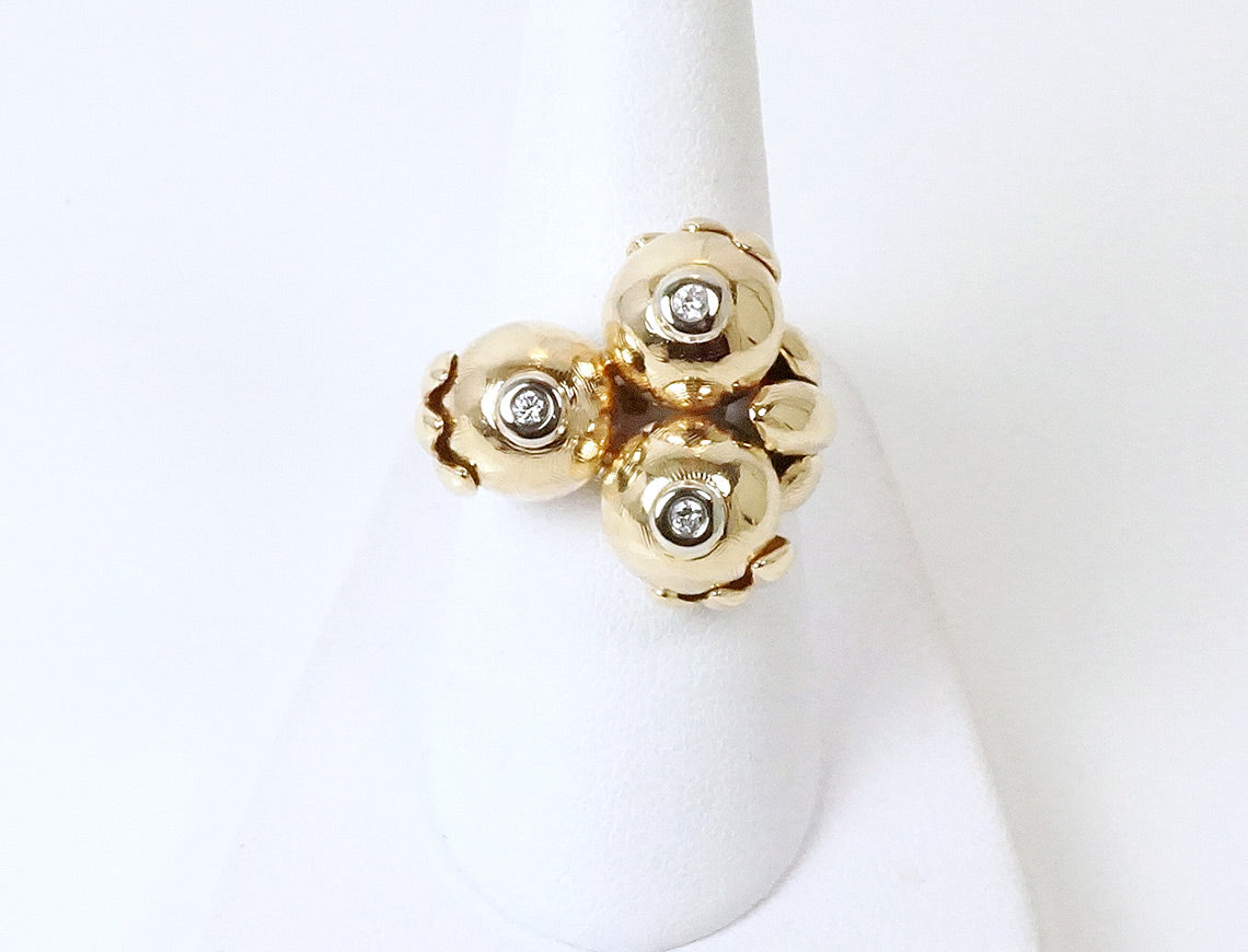 Funky Retro Gold Ring