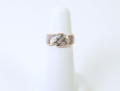Inlaid mother-of-pearl ring by Kabana