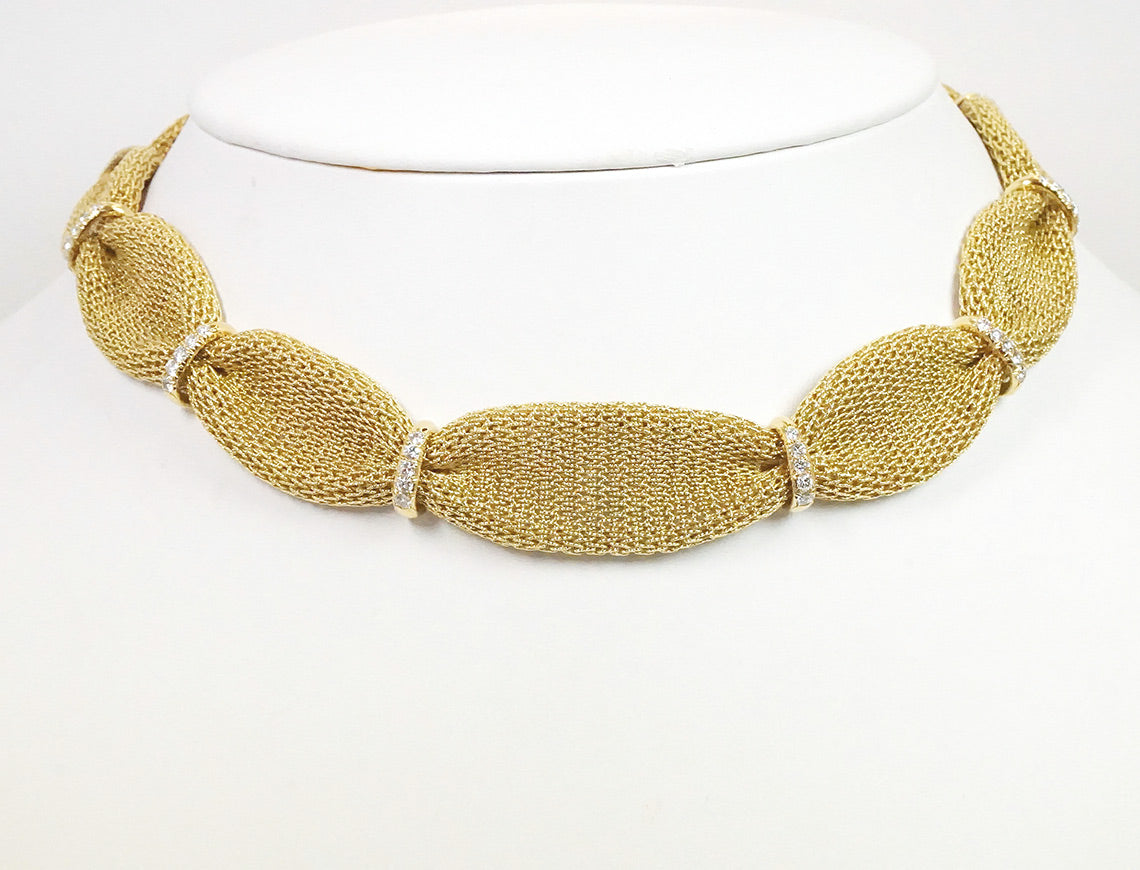 Gathered mesh necklace by Bulgari