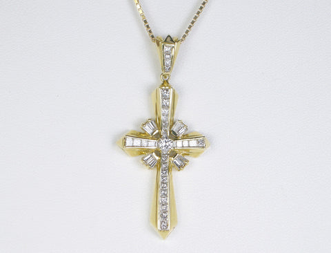 Elegant diamond cross