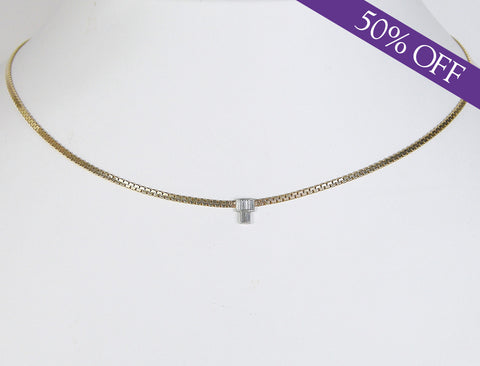 Custom-made diamond choker - Original price: $1200