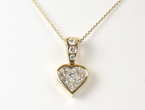 Princess cut diamond heart