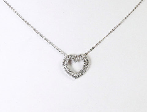 Double row heart by Tiffany