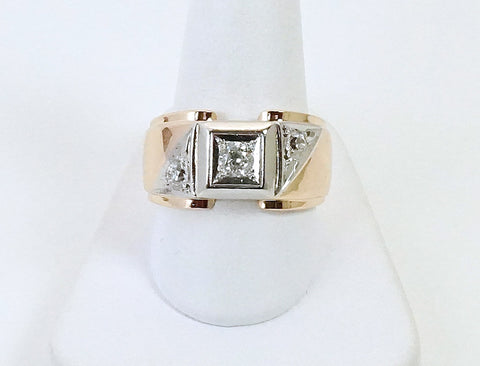 Vintage man's diamond ring