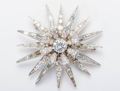Exquisite Art Deco starburst brooch/pendant