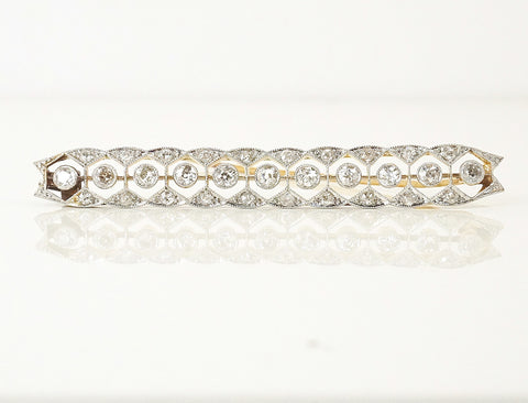 Edwardian diamond bar pin