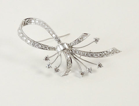 Mid-century diamond brooch