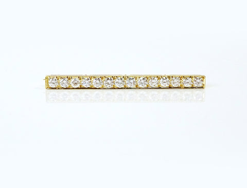 18K and diamond bar pin