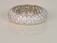 Platinum pave band by Tiffany