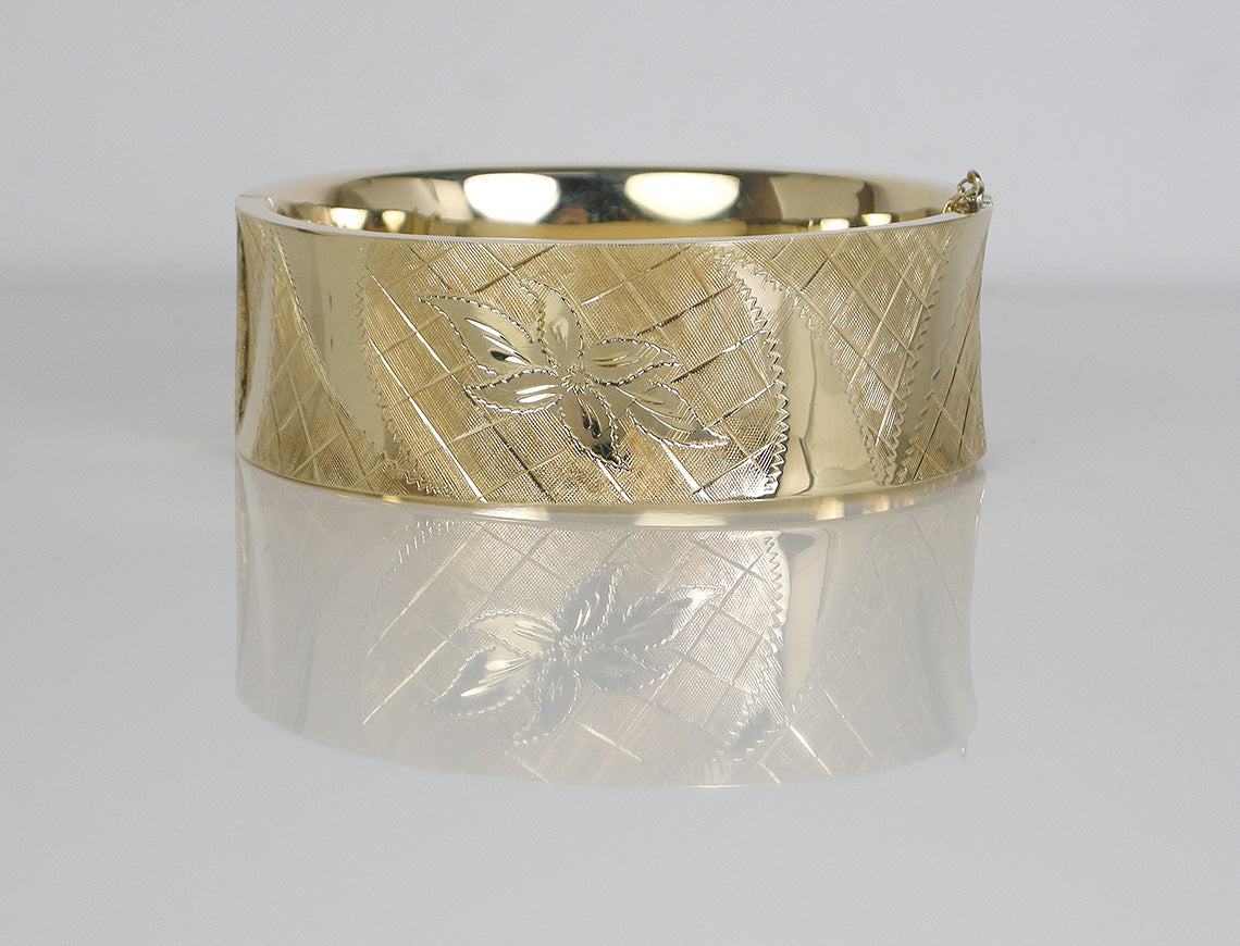in gold carved thick bangles cuban plated bracelet embossed bangle wide bracelets rubber curb